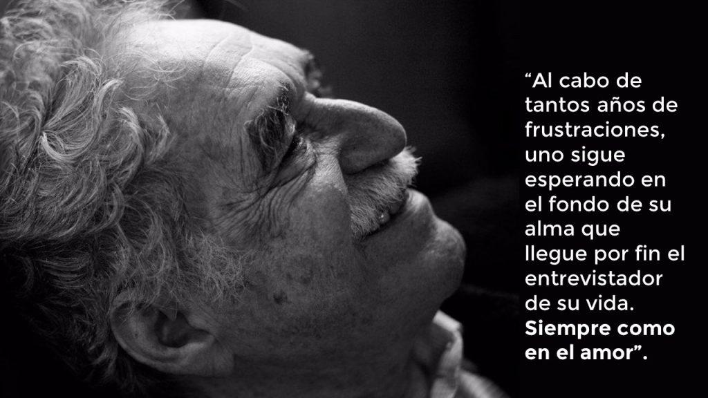 imagen de Gabriel García Marquez  y su frase sobre la entrevista